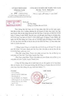 Quyết định phê duyệt đầu tư dự án River Silk City