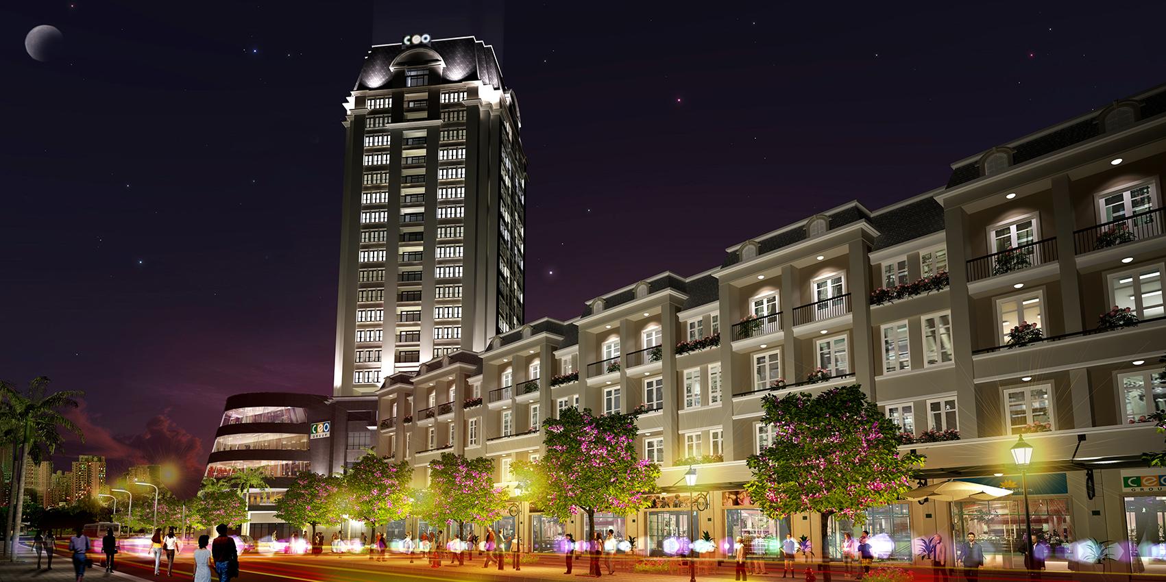 Khu đô thị về đêm