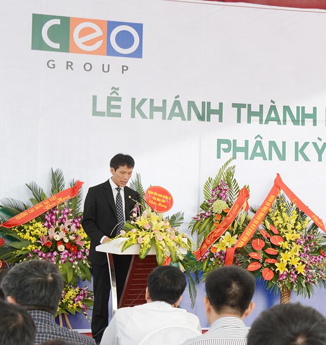 Chủ tịch CEO Group phát biểu tại lễ khánh thành.jpg